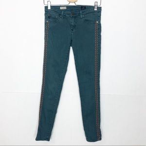 EUC AG The Legging Ankle side embroidered jeans